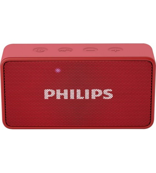 Philips BT64R/94 Bluetooth Speaker, Wireless, Portable, Red